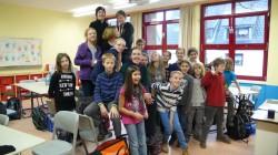 Ave Kongi koos oma 5. klassi õpilastega Ludwig Meyni gümnaasiumis.