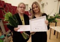 Tallinna Heleni Kooli esindajad Piret Põllu ja Raili Loit