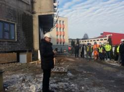 Jõhvi tulevase riigigümnaasiumi ehitus jõudis sarikapeoni - kooli direktor Tarmo Valgepea.