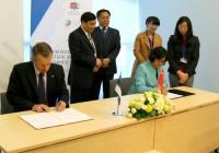 Eesti-Hiina lepingu allkirjastamine. Foto: HTM