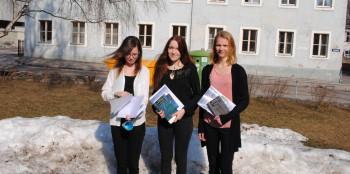 Maris Sala, Helo Liis Soodla ja Elise Metsanurk. Foto: erakogu
