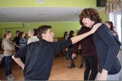 Lavavõitlust õpetas Tanel Saar VAT Teatrist. Pildil harjutavad Marco ja Ricardo Milano trupist.  Fotod: Crislyn Kaarepere