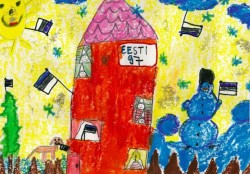 Töö autor on 6-aastane Lota-Liisa Kivipalu Kiviõlist.